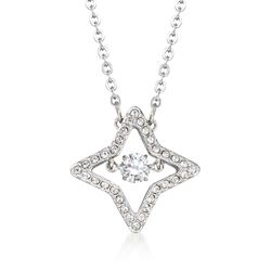 "Swarovski Crystal ""Sparkling Dance Star"" Crystal Star Pendant Necklace in Silvertone. 15""  , , default"
