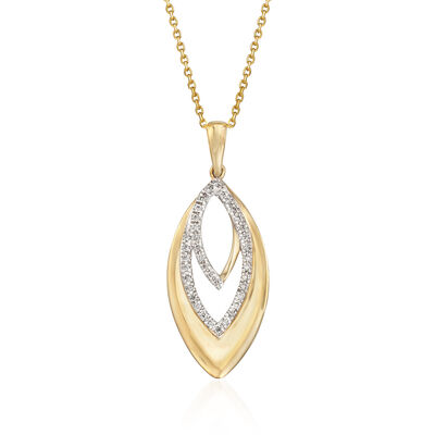 .20 ct. t.w. Diamond Pendant Necklace in 14kt Yellow Gold, , default
