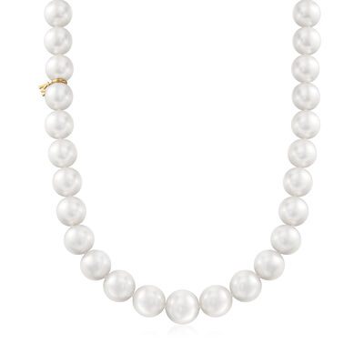 Mikimoto 11-13.5mm A+ South Sea Pearl Necklace with 18kt White Gold and Diamond Accent, , default