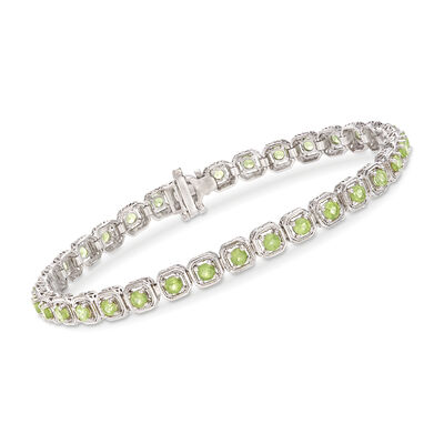 3.90 ct. t.w. Peridot Bracelet in Sterling Silver, , default
