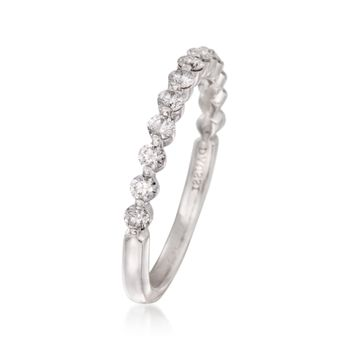 Henri Daussi .46 ct. t.w. Diamond Wedding Ring in 18kt White Gold