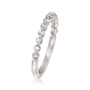 Henri Daussi .46 ct. t.w. Diamond Wedding Ring in 18kt White Gold, , default