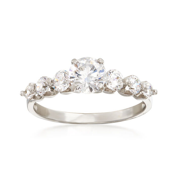 1.43 ct. t.w. CZ Multi-Stone Ring in 14kt White Gold