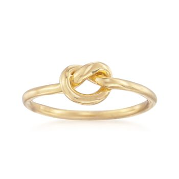14kt Yellow Gold Over Sterling Silver Single Knot Ring, , default