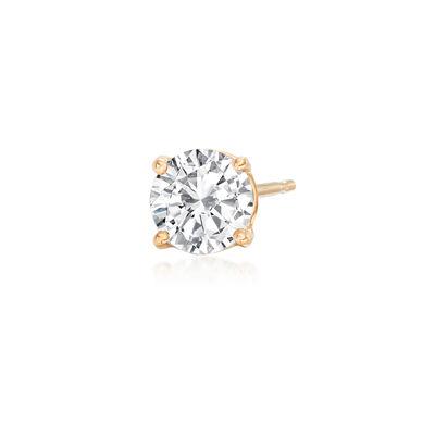 1.00 Carat Diamond Single Stud Earring in 14kt Yellow Gold