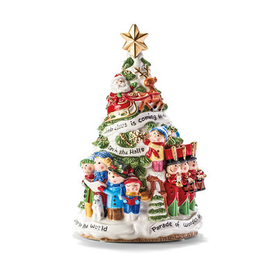 Fitz and Floyd White House Toyland Musical Tree, , default