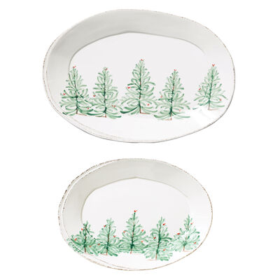 """Lastra """"Holiday"""" Oval Platter from Italy"""