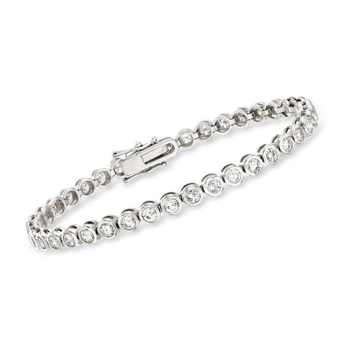 5.00 ct. t.w. Bezel-Set Diamond Tennis Bracelet in 14kt White Gold, , default