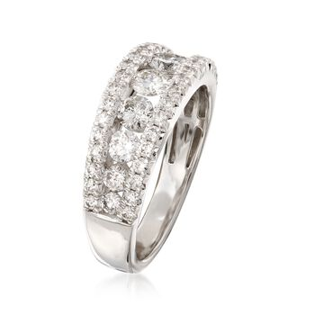 1.50 ct. t.w. Diamond Three-Row Ring in 14kt White Gold