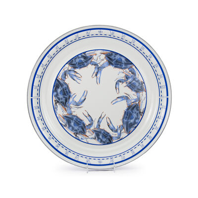 "Golden Rabbit ""Blue Crab"" Large Serving Tray, , default"