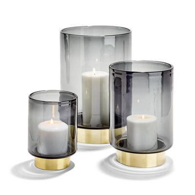 Set of 3 Smoke Glass Vases