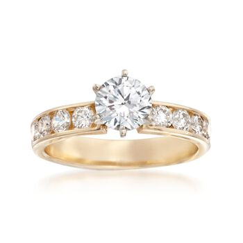 .80 ct. t.w. Diamond Engagement Ring Setting in 14kt Yellow Gold, , default