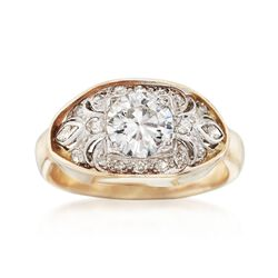 C. 1950 Vintage 1.96 ct. t.w. Diamond Ring in Platinum and 14kt Yellow Gold. Size 6.25, , default