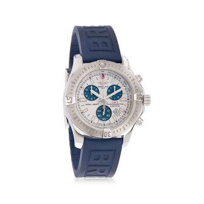 Breitling Colt Chronograph 44mm Men's Watch in Stainless Steel with Blue Rubber Strap, , default