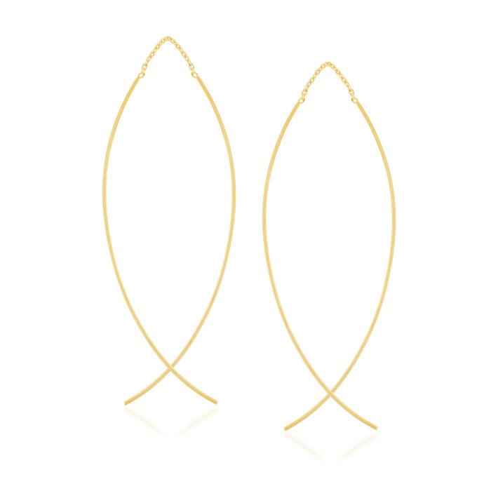 14kt Yellow Gold Threader Earrings