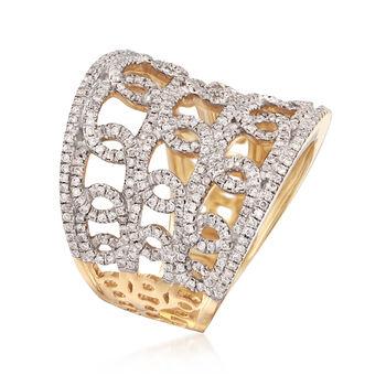 1.00 ct. t.w. Diamond Multi-Loop Ring in 14kt Yellow Gold, , default