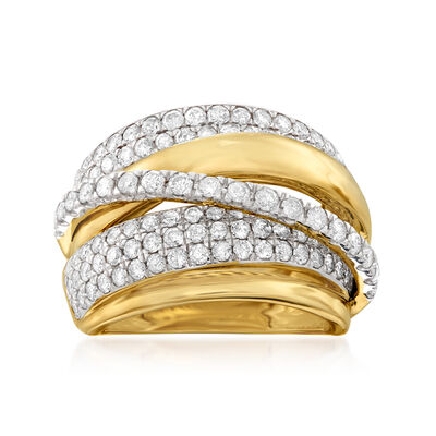 2.00 ct. t.w. Diamond Highway Ring in 14kt Yellow Gold, , default