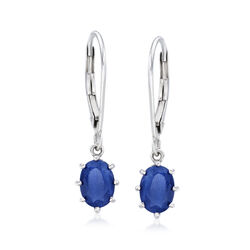 2.00 ct. t.w. Sapphire Earrings in 14kt White Gold, , default