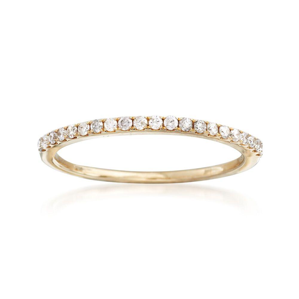 ea00ac1e5c7b6 .21 ct. t.w. Pave Diamond Ring in 14kt Yellow Gold