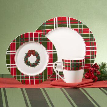 """Lenox """"Vintage Plaid"""" Porcelain Dinnerware With Bonus """"Holiday Jewels"""" Serveware, , default"""
