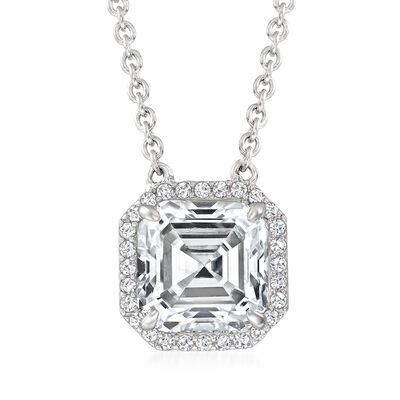 3.10 ct. t.w. CZ Necklace in Sterling Silver