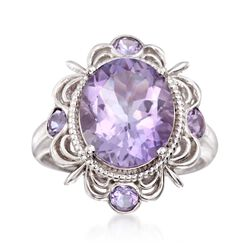 Italian 4.60 ct. t.w. Pink Amethyst Ring in Sterling Silver, , default
