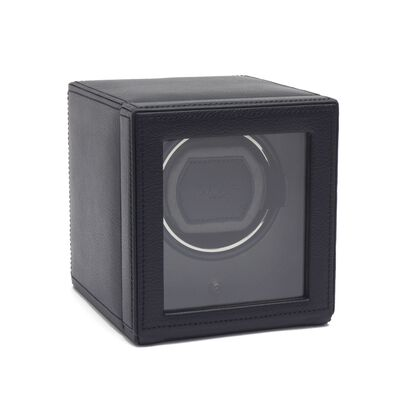 """Cub Winder"" Black Single Watch Winder With Cover by Wolf Designs , , default"