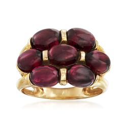 8.25 ct. t.w. Multi-Oval Garnet Ring in 14kt Yellow Gold, , default