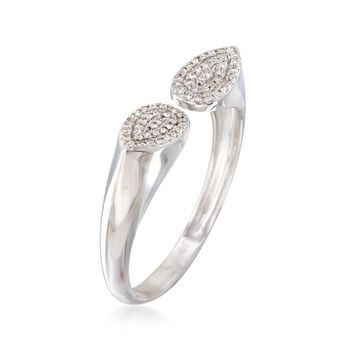 .10 ct. t.w. Pave Diamond Open-End Ring in 14kt White Gold, , default