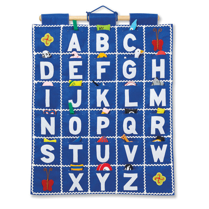 Pockets of Learning Abc Blue Wall Hanging Chart, , default