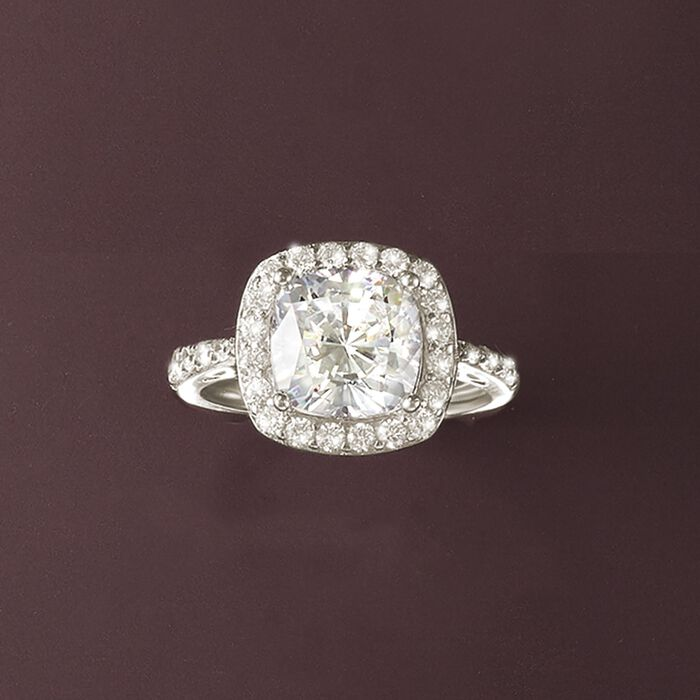 3.55 ct. t.w. CZ Ring in Sterling Silver