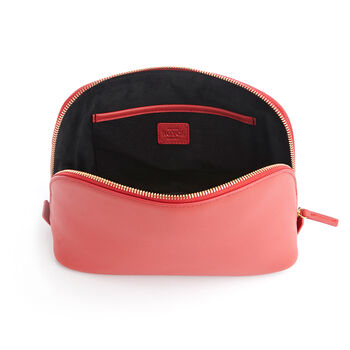 Royce Red Leather Cosmetic Bag