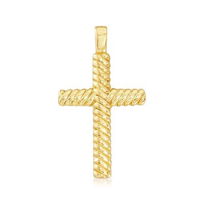 Italian Andiamo 14kt Yellow Gold Cross Pendant