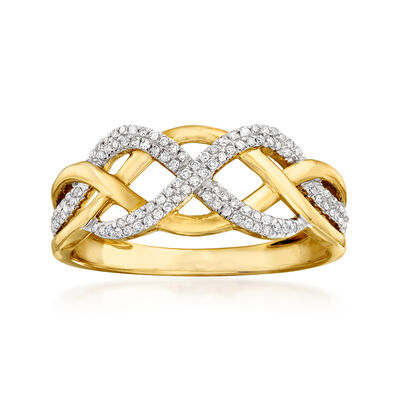 .15 ct. t.w. Diamond Twisted Ring in 14kt Yellow Gold