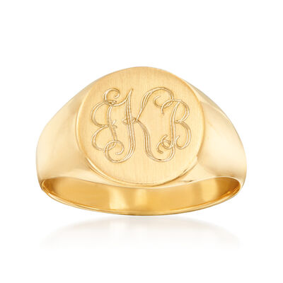Engravable Ring in 14kt Yellow Gold, , default