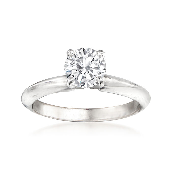.91 Carat Certified Diamond Engagement Ring in 14kt White Gold