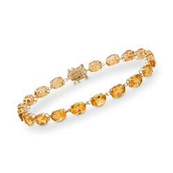17.00 ct. t.w. Citrine Tennis Bracelet in 14kt Yellow Gold, , default