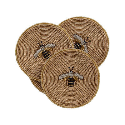 Joanna Buchanan Set of 4 Stripey Bee Coasters, , default