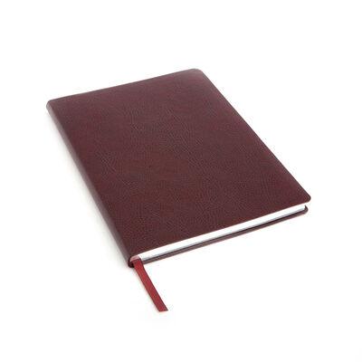 Royce Burgundy Leather Three-Initial Slim Journal