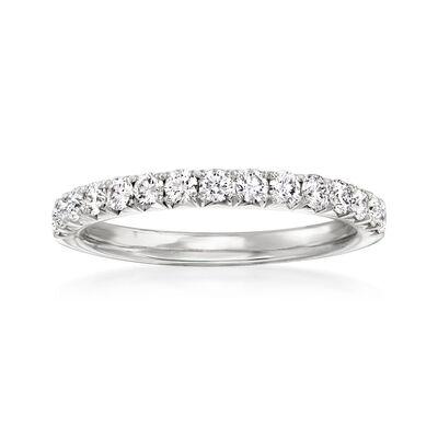 Henri Daussi .45 ct. t.w. Diamond Wedding Ring in 14kt White Gold