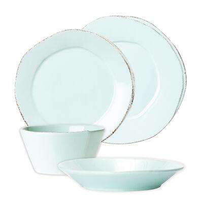 """Vietri """"Lastra"""" Aqua Dinnerware from Italy"""