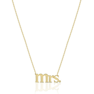 "14kt Yellow Gold ""Mrs."" Necklace, , default"