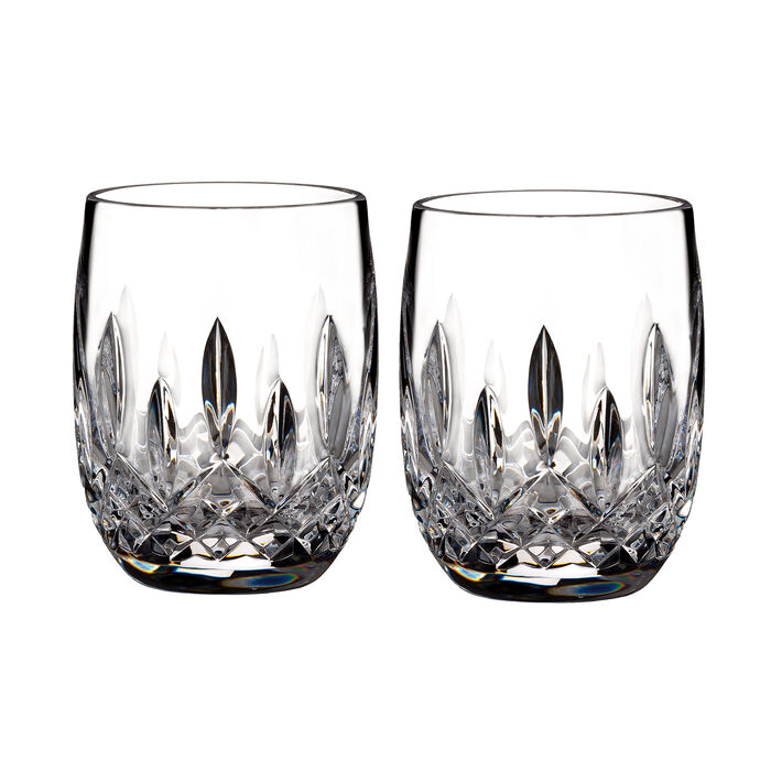 "Waterford Crystal ""Connoisseur"" Set of 2 Lismore Rounded Tumbler Glasses"