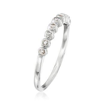 .13 ct. t.w. Bezel-Set Diamond Ring in Sterling Silver, , default