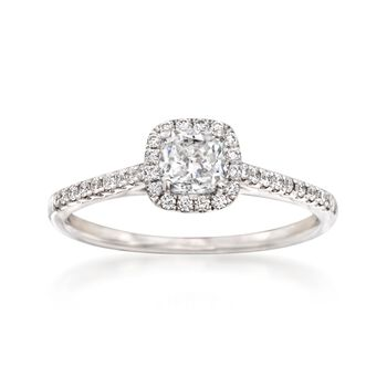 .72 ct. t.w. Diamond Halo Engagement Ring in 14kt White Gold, , default