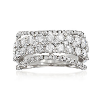 2.00 ct. t.w. Diamond Multi-Band Ring in 14kt White Gold