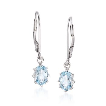 1.50 ct. t.w. Aquamarine Drop Earrings in 14kt White Gold, , default
