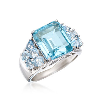 9.05 ct. t.w. Sky Blue Topaz Ring in Sterling Silver