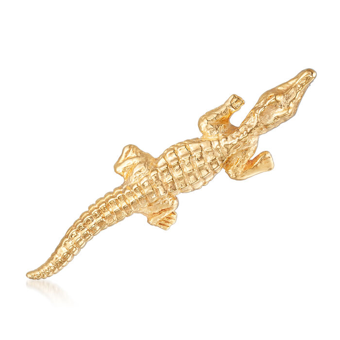 Italian 14kt Yellow Gold Alligator Pin, , default