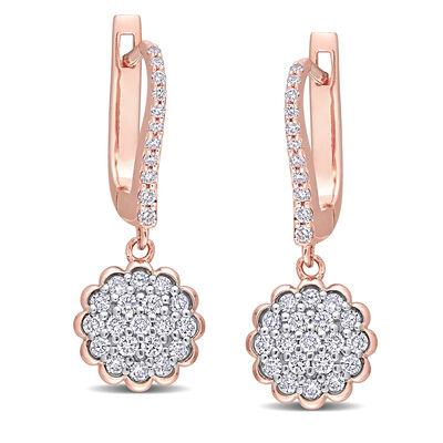 .64 ct. t.w. Diamond Drop Earrings in 14kt Two-Tone Gold